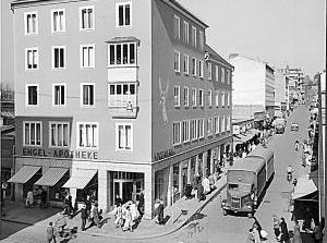 Die Wilhelmsstraße Ecke Königsstraße in den 1950er Jahren