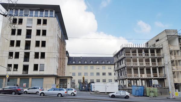 Umbau Kirchenbank: Die beiden Gebäudeteile sollen miteinander verbudnen werden