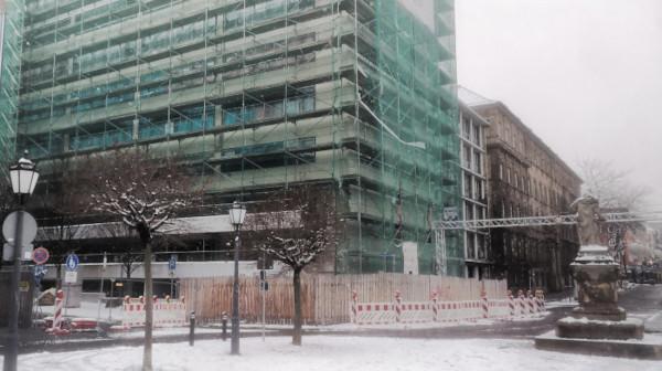 Sanierung des Rathaus-Flügels kommt gut voran